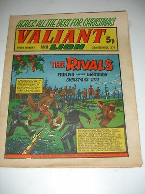 VALIANT And LION comic 28th December 1974