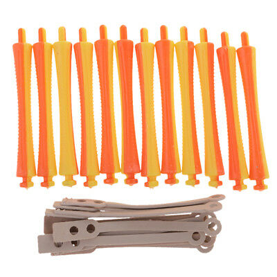 12pcs Cold Wave Perm Rod Corn Hair Hairdressing Curler Styling DIY Tool