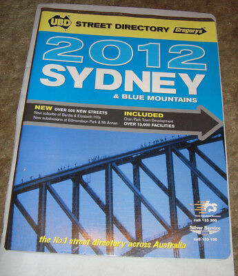 UBD SYDNEY & Blue Mountains Street Directory edition 2012  free post