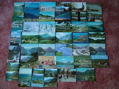 40 Used Postcards of NORWAY.  1960's onwards.