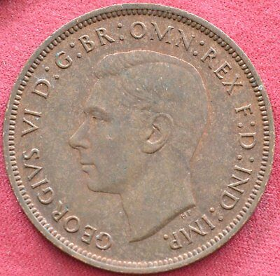 Great Britain (UK) 1940 One Penny Coin - King George VI