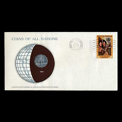 Iraq 5 Fils Fdc ─ Coins Of All Nations Uncirculated Stamp Cover Unc
