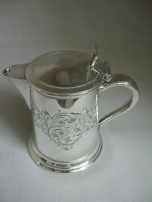Antique Silver Plate Creamer Jug Beaded & Etch Designs Cooper Brothers 1895-1983