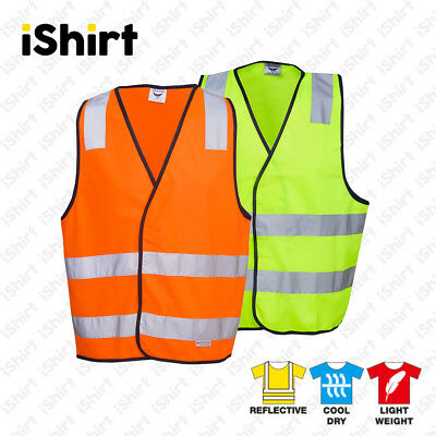 Hi Vis Vest Safety Vest Reflective Tape Yellow Or Orange Safety Workwear