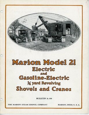 Marion Shovel Marion Model 21 3/4 Yard Electric and Gasoline-Electric