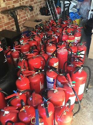 Job Lot Of Fire Extinguishers All In Working Order. Foam Water Co2 And Powder