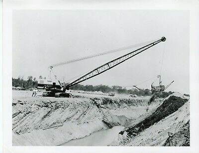 Vintage 8x10 Photo Marion Power Shovel 93-M Dragline East Palestine OH