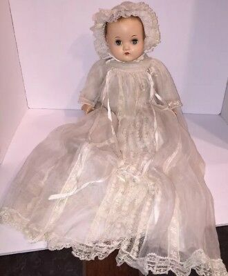 "Vintage Madame Alexander Little Genius 17"" Doll Tagged Christening Outfit"