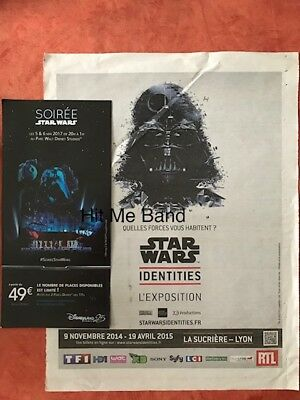 Star Wars promo ads 1 Disney flyer + 1 page Identities exposition France 2017