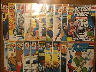 Marvel 1987 Action Force 13-47 Not Complete Magazine Style Comic GI Joe Cobra