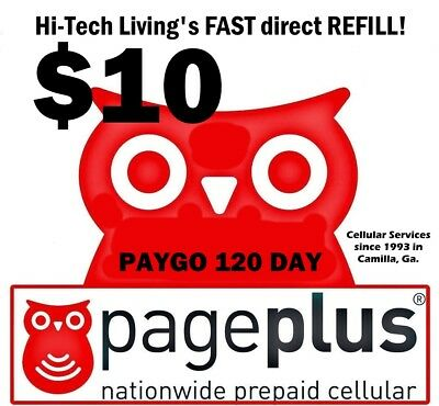 Page Plus $10 Refill DIRECT ELECTRONIC FAST to PHONE >TRUSTED 25yr  USA SELLER<