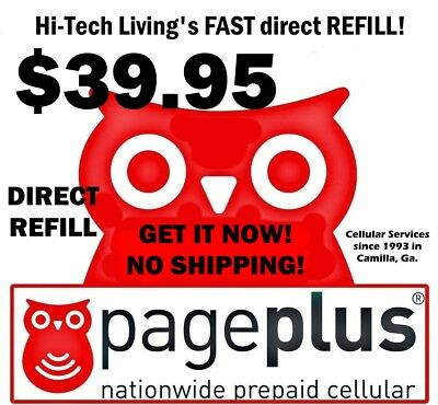 Page Plus $39.95 Refill DIRECT ELECTRONIC ONLINE REFILL / RE-UP