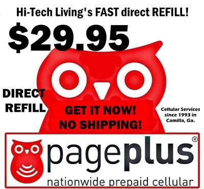 29.95 PAGE PLUS PREPAID FAST DIRECT ONLINE REFILL > 25yr TRUSTED USA DEALER <