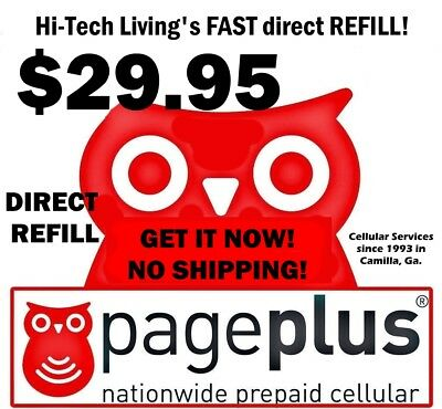 Page Plus $29.95 Refill DIRECT ELECTRONIC ONLINE REFILL / RE-UP