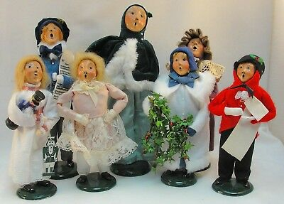 Vintage Byers' Choice Marie & The Carolers Collection of (7) Seven Figures