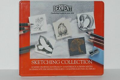 Derwent Sketching Collection Metal Tin 24 Count 34306