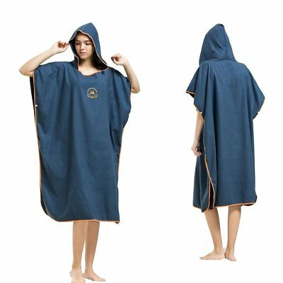 Hiturbo Microfiber Surf Beach Wetsuit Changing Towel Bath Robe Poncho with Hood