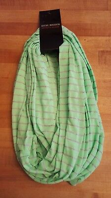 3d4bad7b33 STEVE MADDEN LIME Green with Gray Stripes Infinity Scarf BNWT ...