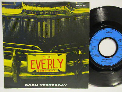 "THE EVERLY BROTHERS 7"" : BORN YESTERDAY / YOU SEND ME = 1985     80er"