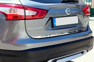 Nissan Qashqai J11 Chrome Under Rear Tailgate Trim 2014-2018 Stainless Steel