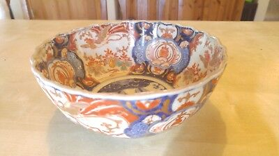 """Imari porcelain bowl 8""""x3.75"""" 175 years old, needs cleaning"""