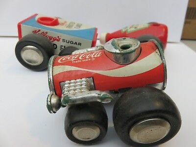 older Buddy L small advertising cars, Coca-Cola, Heinz Ketchup, Kellog's Cereal