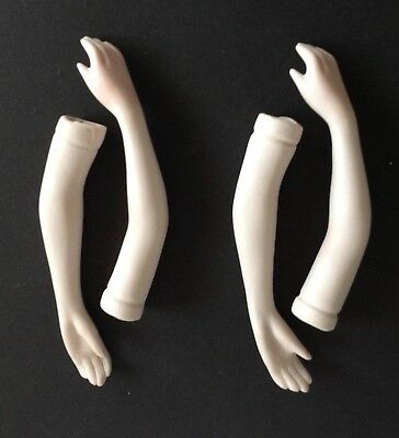 """2 Pair Vintage Bisque Doll Arms..4 1/2""""..Shaded..No Flaws.."""