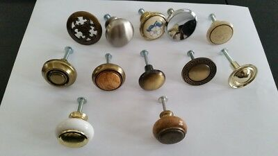 antique vintage drawer cabinet door handles /knobs,lot of 12 different shapes