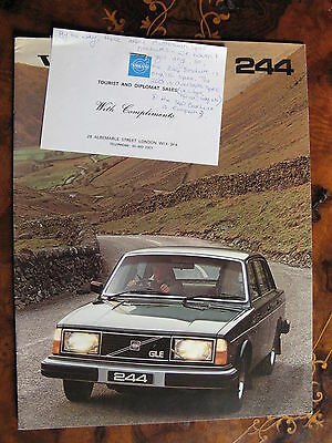 1980 Volvo 244 Series Catalogue