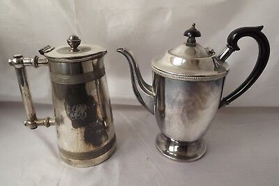 silver plated coffee pot hot water jug
