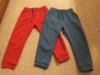 2 Pairs Of Boys M&S Jogging Pants Age 4-5