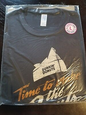 Dunkin' Donuts T-Shirt Time to Make the Donuts Advertisement woman Size L