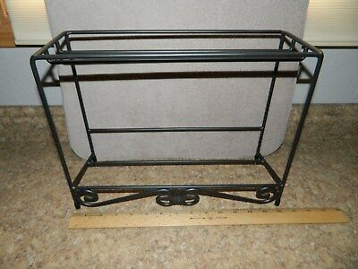 Longaberger Wrought Iron Media Table Top Rack Stand Shelf  #71470