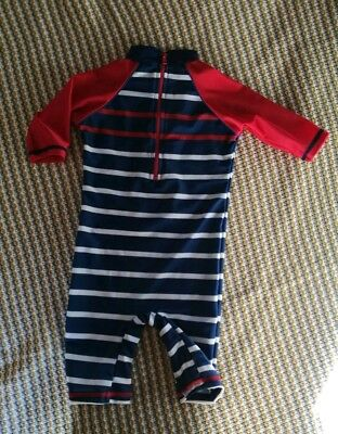 baby boys swimsuit sun suit swimming costume UV protection nautical 12-18 months