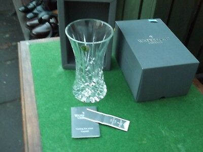 waterford crystal vase , boxed new , the immigrant vase