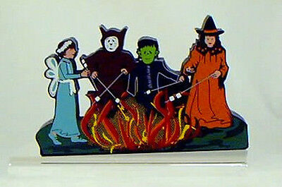 Shelia's THE BONFIRE-Frankenstein,Witch,Toasting Marshmallows-HALLOWEEN COSTUME