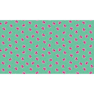 Makower Patchwork Fabric Kitty Outline Turquoise Per 1//4 Metre