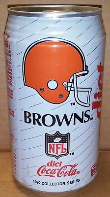 Diet Coke - NFL Football Collector Series Cleveland Browns - 12 oz can 1992