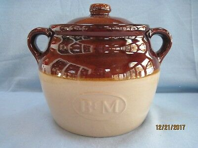 Vintage B & M Baked Beans Stoneware Crock Pot with Lid
