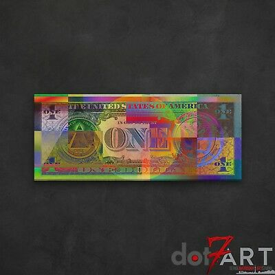 """48""""X20"""" Colorized Reverse of U.S. One Dollar Bill - Back of USD $1 Open Edition"""