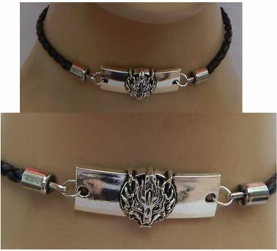 Choker Necklace Silver Wolf Handmade Adjustable New Black Accessories Women