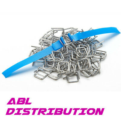 1000 x 12mm Wire Buckles for Poly Strapping Strap Metal