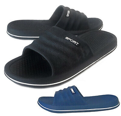 NEW Men's Casual Slip On Sandal Lightweight Rubber Shoe Black Navy Size 7 to 13