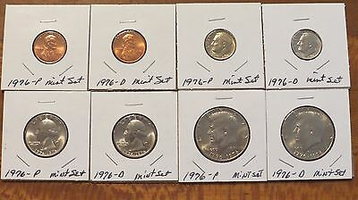 NICE ESTATE!! Set of Uncirculated coins from US Mint sets, 1976 P&D!!