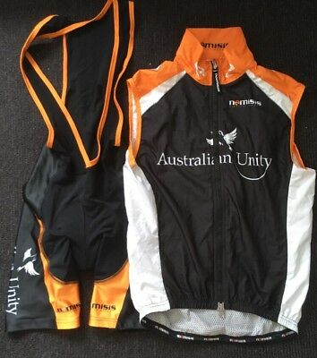 Nemesis Cycling Australian Unity Bib Short and Vest - SMALL