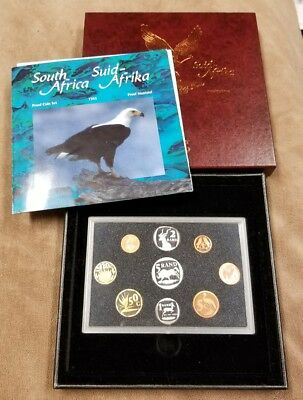 1995 South African Proof Coin Set Hard to Find Rare Date