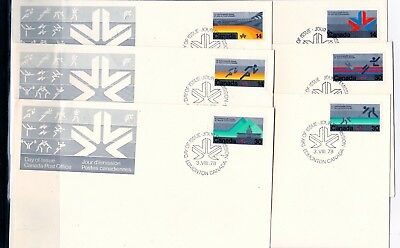 Canada First Day Covers- 757 , 758 , 759 , 760 ,761 , 762