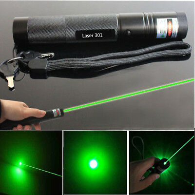 50Miles Military 301 1MW Green Laser Pointer Pen 532nm Teaching Light  USA