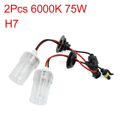 2PCS 6000K 75W H7 HID Xenon Headlamp Lamp Light Bulbs for Auto Car