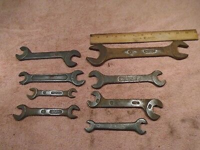 Vintage 8 LOT Tractor Solid International Harvester IH Tractor Open End Wrench